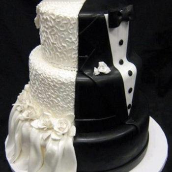 торт черно-белый