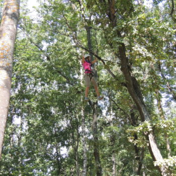 веревочный курс высотный упражнение Переправа