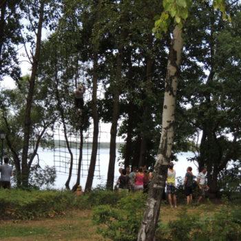 веревочный курс высотный упражнение Сетка