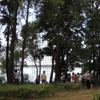 веревочный курс высотный упражнение Сетка 1