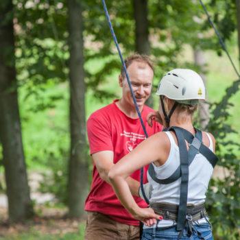 веревочный курс высотный подготовка к упражнениям