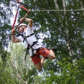 веревочный курс высотный упражнение Трапеция 2