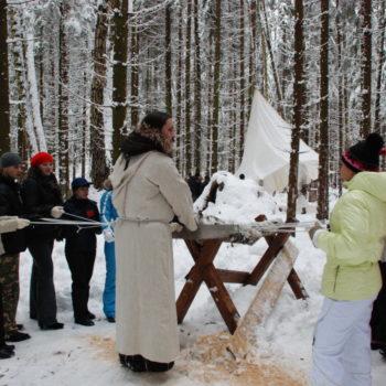 заготовка дров для Бабы Яги