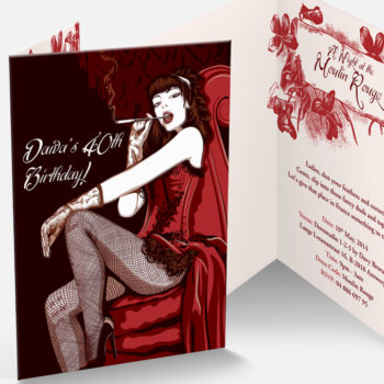 сделаем настоящее пригласительный в Moulin-Rouge