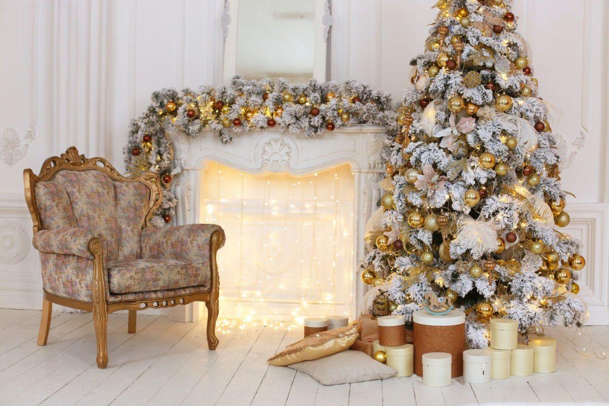 окна новогодние фотозоны белые с золотом что одеть пластик легко
