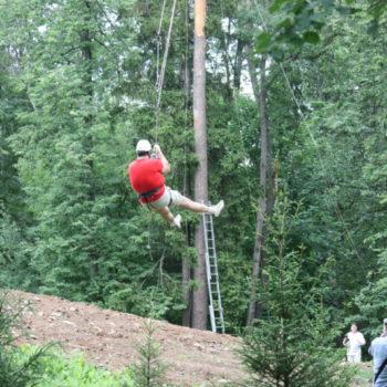веревочный курс высотный упражнение Спуск 2